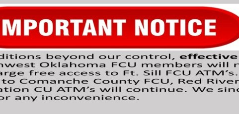 Surcharge Free ATM Notice